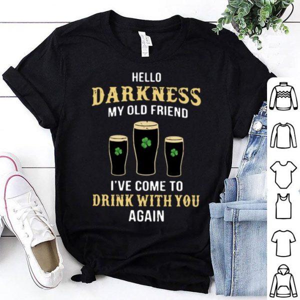 Hello Darkness My Old Friend Shamrock Beer St. Patrick's Day shirt