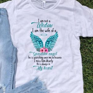 I Am Not A Widow I Am The Wife Of A Guardian Angel Wing Floral shirt