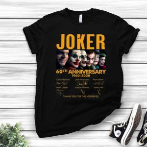 Joker 60th Anniversary Thank You For The Memories Signatures shirt