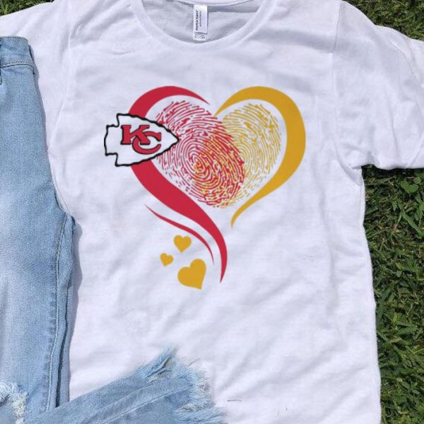 Kansa City Chief Heart Fingerprint shirt