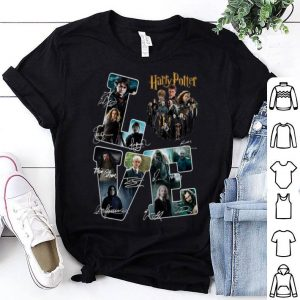 LOVE Harry Potter Character Signatures shirt