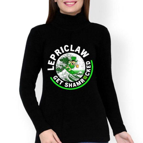 Lepriclaw Shamrock Leprechaun Surf Wave Beer Drinking shirt