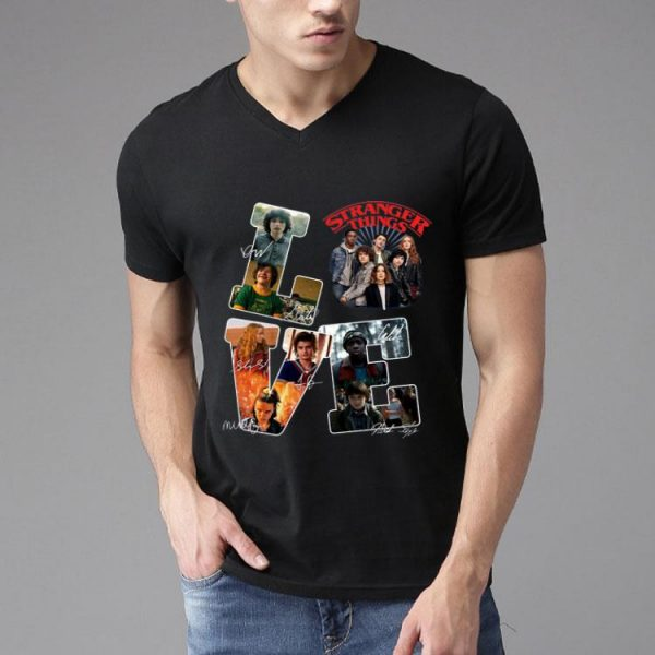 Love Stranger Things Signatures shirt
