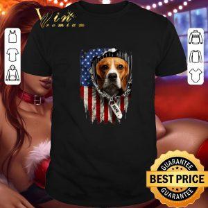 Original Beagle dog name American flag shirt