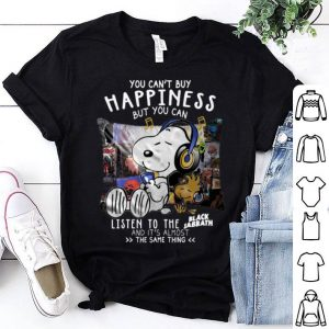 Snoopy You Can't Buy Happiness But You Can Listen To Black Sabbath shirt