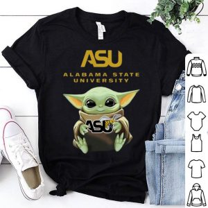 Star Wars Baby Yoda Hug Alabama State University shirt