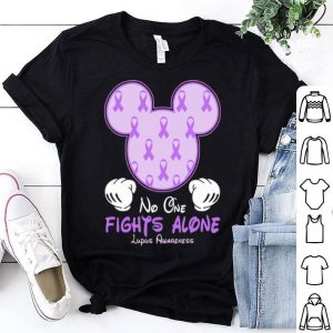 Disney Mickey Mouse No One Fights Alone Lupus Awareness shirt