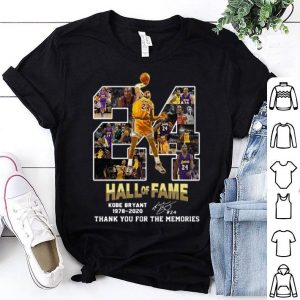 24 Hall Of Fame Kobe Bryant Thank You For The Memories Signature shirt