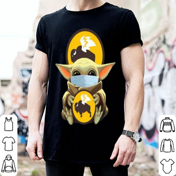 Star Wars Baby Yoda Mask Hug Buffalo Wild Wings Covid-19 shirt