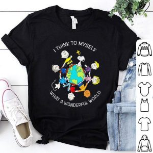 Snoopy Charlie Brown think world shirt
