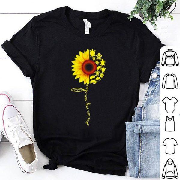 Sunflower You are my sunshine turtle shirt