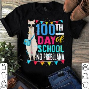 100 Days Of School No Probllama Llama shirt