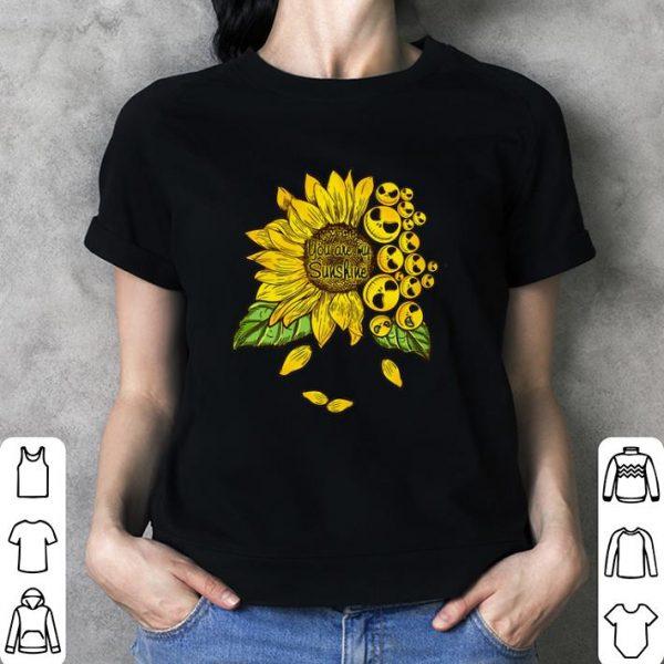 Face Jack Skellington you are my sunshine Sunflower shirt