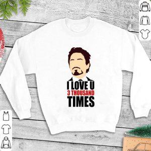 Ironman I Love You 3 Thousand times shirt