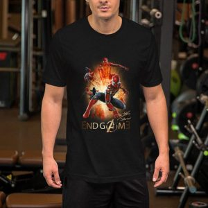 Spider man Peter Parker signature Marvel Avengers Endgame shirt