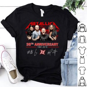 Metallica 38th anniversary 1981-2019 Signatures shirt