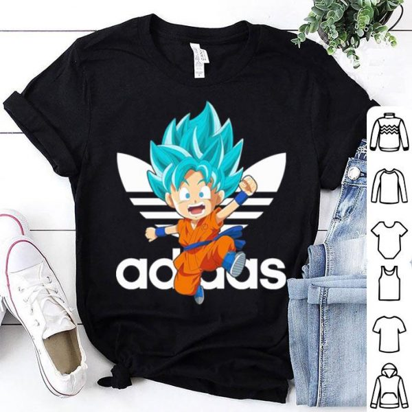 Son Goku Dragon Ball Super Saiyan Blue Adidas shirt