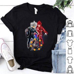 Avengers Endgame Goku Ultra Instinct and Vegeta Super Saiyan God shirt