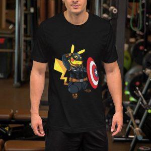 Captain America Pikachu Marvel Avenger shirt