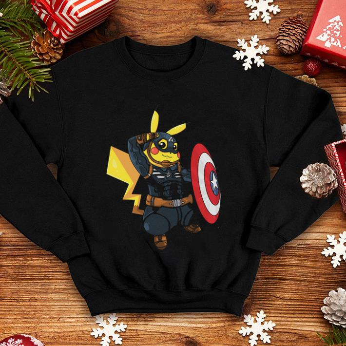 4f29b20a Captain America Pikachu Marvel Avenger shirt, hoodie, sweater ...