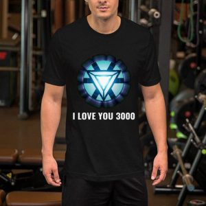 Energy Arc Reactor Iron Man Tony Stark I love you 3000 shirt
