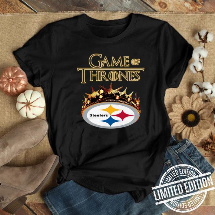 new arrival 68843 1b648 Game of Thrones Crown Pittsburgh Steelers shirt
