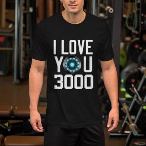 Heart I Love You 3000 Dad and Daughter Iron Man Arc reactor shirt