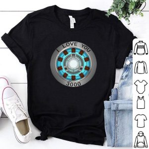I Love You 3000 times heart Tony Stark shirt