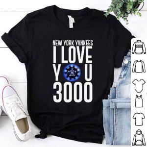 New York Yankees I love you 3000 arc reactor Iron Man shirt
