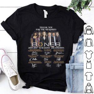 Thank you for the memories Bones 2005-2017 12 seasons 246 episodes signatures shirt