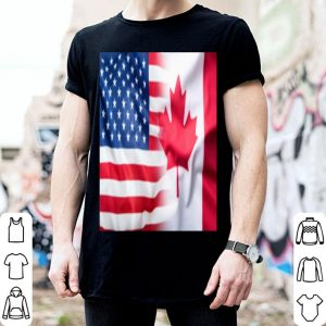 America Flag Mix Canada Flag shirt