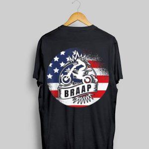 American Flag Braap Motorbike Patriotism shirt