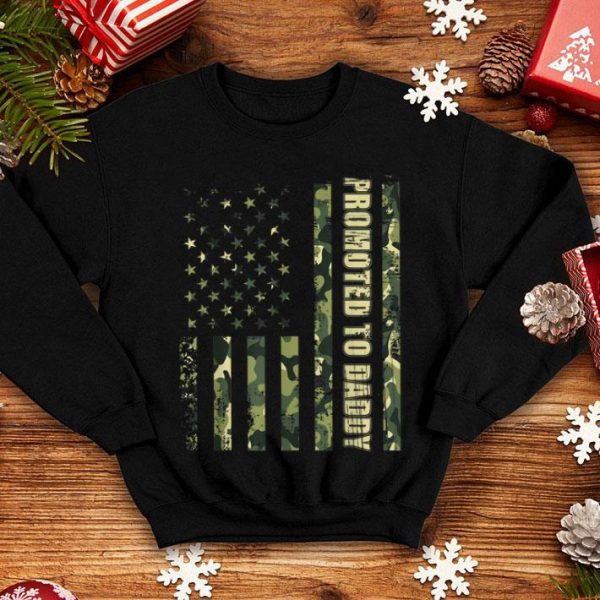 American Flag Promoted To Daddy For Proud Army shirt