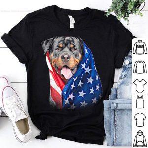 American flag Rottweiler shirt