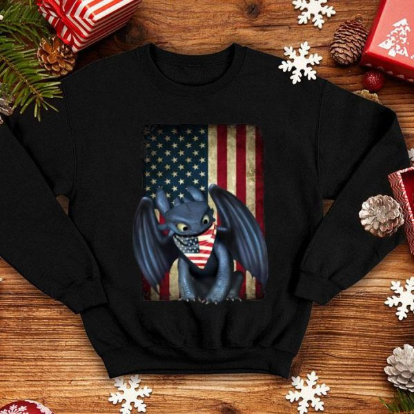 American flag Toothless 4th of july shirt