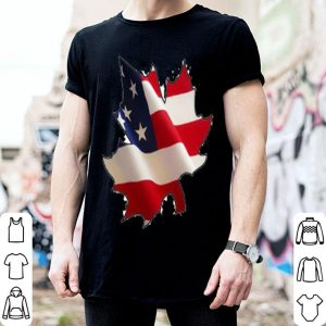 American flag and Canadian Maple leaves shirt