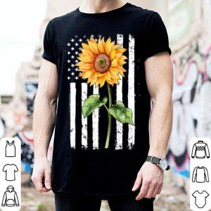 American flag sunflower shirt