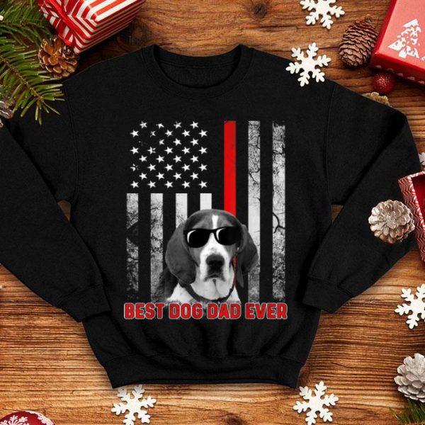 Best Dog Dad Ever American English Coonhound Flag Patriotic shirt