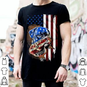 Boxer dog American flag shirt