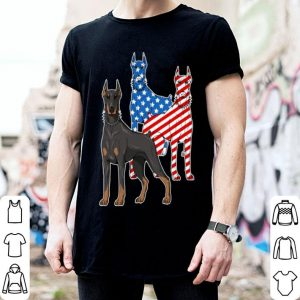 Dobermann American flag shirt