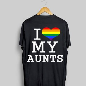 Gay Aunties Baby Clothes I Love My Aunts LGBT Flag shirt