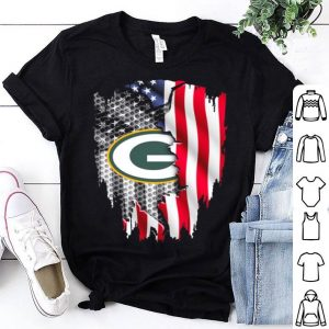 Green Bay Packers American flag shirt