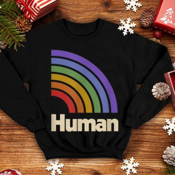 HUMAN Flag LGBT Gay Pride Month Transgender shirt