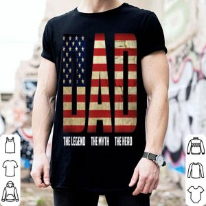 Hero Father Day Perfect American Flag shirt