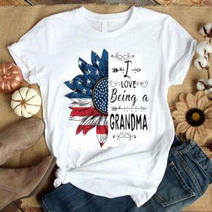 I love being a Grandma America sunflower shirt