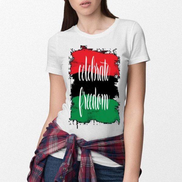 Juneteenth African American flag celebrate freedom shirt