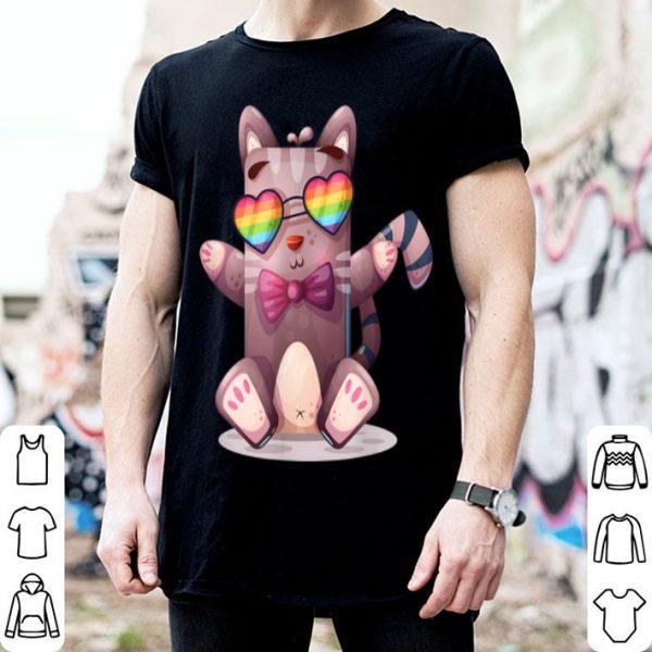 LGBT Cool Cat World Pride Transgender Rainbow shirt