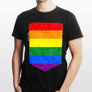 LGBT Flag Faux Pocket Gay Lesbian Rainbow Flags shirt