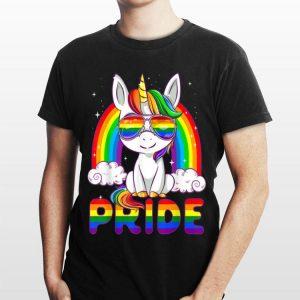 LGBT Pride Gay Lesbian Rainbow Dabbing Unicorn shirt