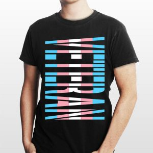LGBTQ Veteran Transgender Awareness Flag shirt